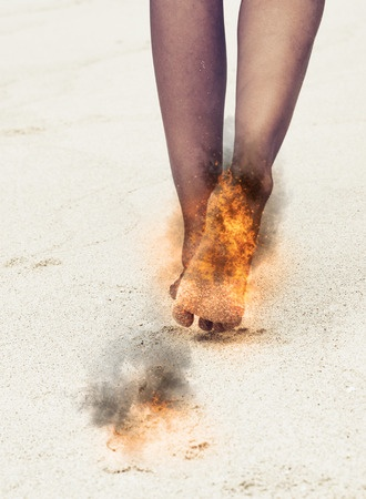varmefornemmelse i benet